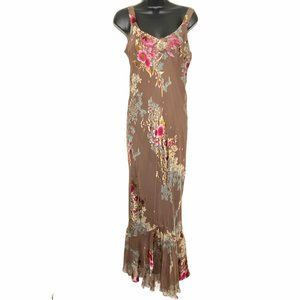 Spencer Alexis Dress Floral Embroidery Silk Lined
